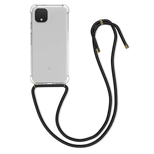 kwmobile Necklace Hülle kompatibel mit Google Pixel 4 - Hülle Silikon mit Handykette - Band Handyhülle Transparent