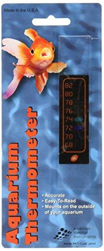 Amer Thermal Instruments Liquid Crystal Vertical Aquarium Thermometer