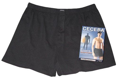 Ceceba Herren Boxershorts Shorts, 2er Pack, Schwarz (black 9000), Large (Herstellergröße: 6)
