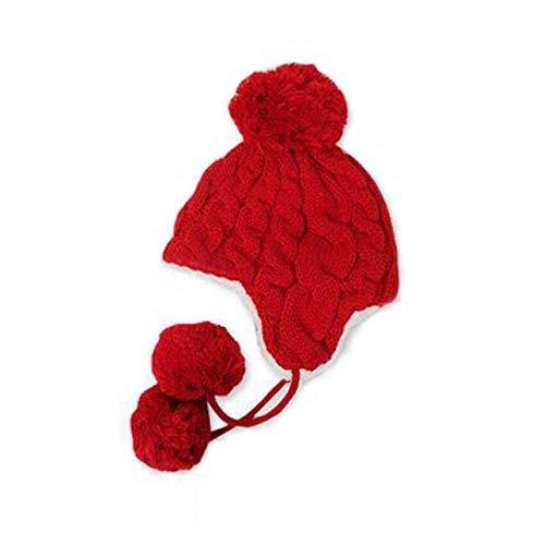 Winter Leuke Katoen Cap Edge Haak Ontwerp Oor Bescherming Warm Gebreide Hoed Voor Jongen Meisje Mode Cap-In
