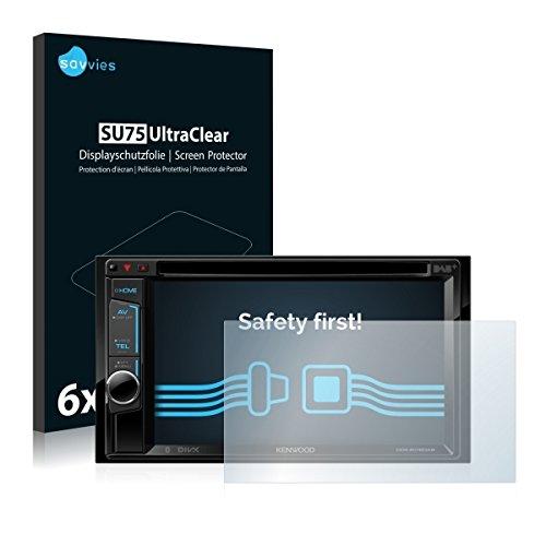 6x Savvies SU75 UltraClear Displayschutz Schutzfolie für Kenwood DDX4016DAB (ultraklar, einfach anzubringen)