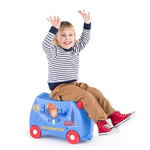 Trunki Trolley Kinderkoffer, Handgepäck für Kinder: Paddington Bär (Blau) - 5