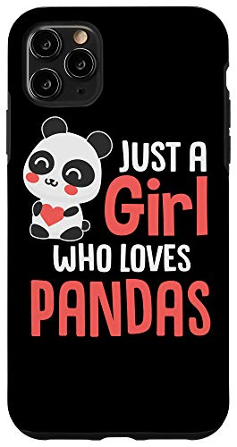 iPhone 11 Pro Max Just A Girl Who Loves Pandas Case