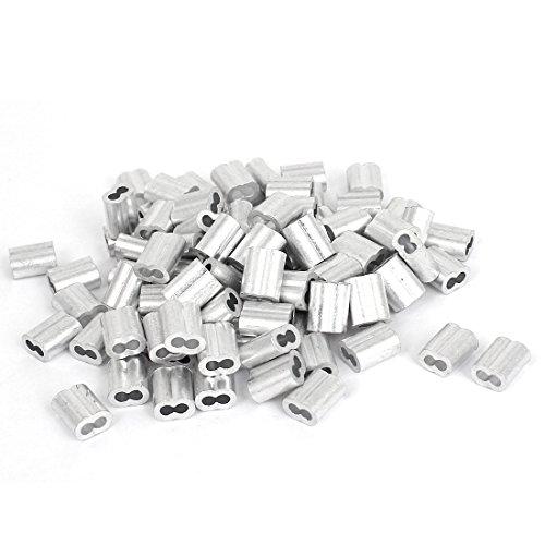Sourcingmap, 2 mm, raccordi/clip metallici per cavi/funi 100 pezzi
