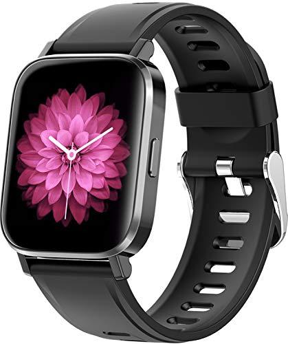 RUNDOING Smartwatch,1.54 Zoll Touch-Farbdisplay Fitness Armband Tracker mit Pulsuhr, IP68 Wasserdicht Sportuhr, Schlafmonitor Schrittzähler Stoppuhr Smart Watch für Damen Herren für Android iOS