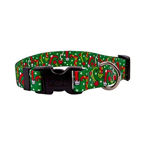 Christmas Stockings Dog Collar - Size Large 18' to 28' Long - Made In The USA