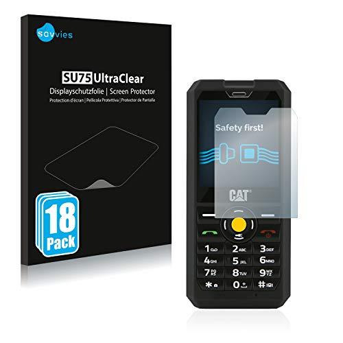 Savvies 18x Schutzfolie kompatibel mit Caterpillar Cat B30 Bildschirmschutz-Folie Ultra-transparent