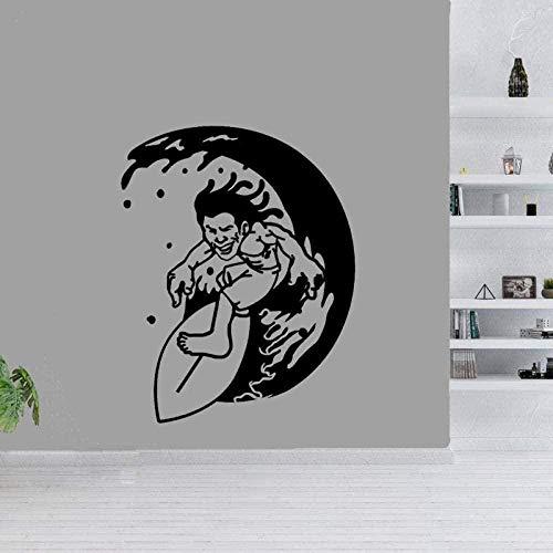 Pegatinas de pared para habitación de niños, pegatinas de pared para sala de estar, tabla de surf, decoración de dormitorio, dormitorio, piscina, Pvc, 48 cm * 60 cm