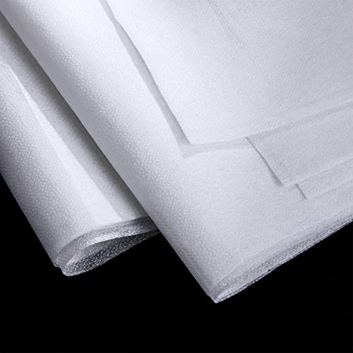 3 Pieces Fusible Interfacing Non-Woven Lightweight Polyester Interfacing (White, 20 Inch x 3 Yards)