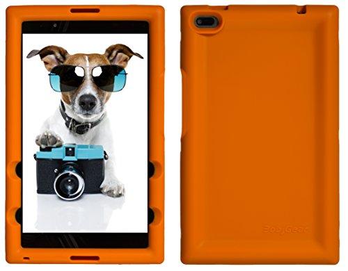 Bobj Rugged Case for Lenovo Tab 4 8 inch only TB-8504F or TB-8504X (NOT FOR TB-8304F or Plus model TB-8704) - BobjGear Custom Fit - Patented Venting - BobjBounces Kid Friendly (Orange)