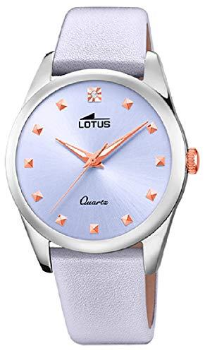 Lotus Watches Reloj para Mujer Analógico de Cuarzo con Brazalete de Piel de Vaca 18642/3