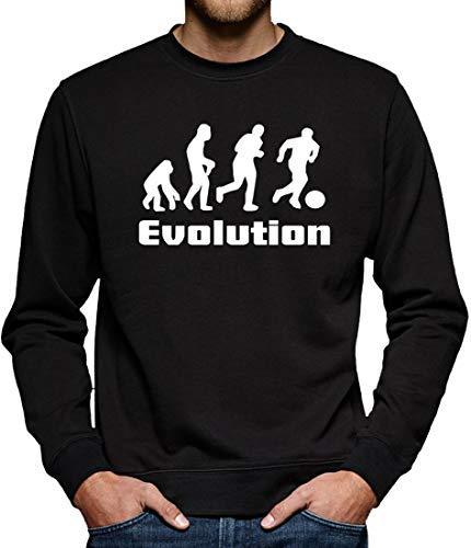 Evolution Fussball Sweatshirt Pullover Herren XXL Schwarz