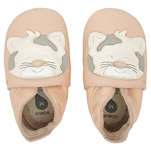 Bobux Patucos para bebé, zapatos de bebé, regalo de leopardo, color Rosa, talla 17 EU