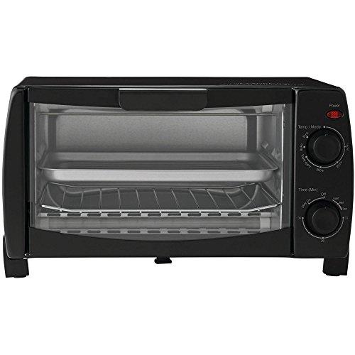 Mainstay MG10BFK-B 4-Slice Toaster Oven, Black