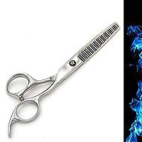 YULINGTRADE 6インチ美容院プロフェッショナル理髪セット、理髪はさみフラット+歯せん断ハイグレード本物のセットをかみそり (色 : Silver)