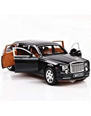 Generic Alloy Car Model 1:24 Car Model For Rolls-Royce Phantom Car Model Boy Toy Diecast Sound Light Toy Six Open Door Toy Car Model Black