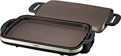 commercial Zojirushi EA-DCC10 Gourmet Sizzler Electric Grill, Anti-corrosion Brown ceramic electric griddle