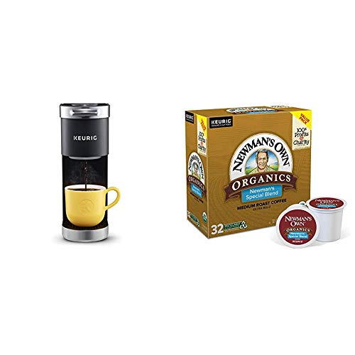 Keurig K-Mini Plus Coffee Maker with Newman's Own Organics Newman's Special Blend, 32 Count