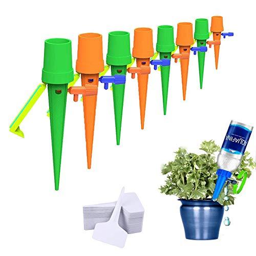 JatilEr 8PCS Automatische Bewässerung, Pflanzen Bewässerungssystem Topfpflanzen, Bewässerungssystem Zimmerpflanzen, für Sukkulenten, Zimmerpflanzen, Außenpflanzen (mit 25 Pflanzenschilder)