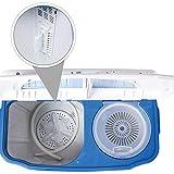 TecTake® 4,5 kg Mini Waschmaschine Miniwaschmaschine + 3,5 kg Wäscheschleuder Kombination - 7