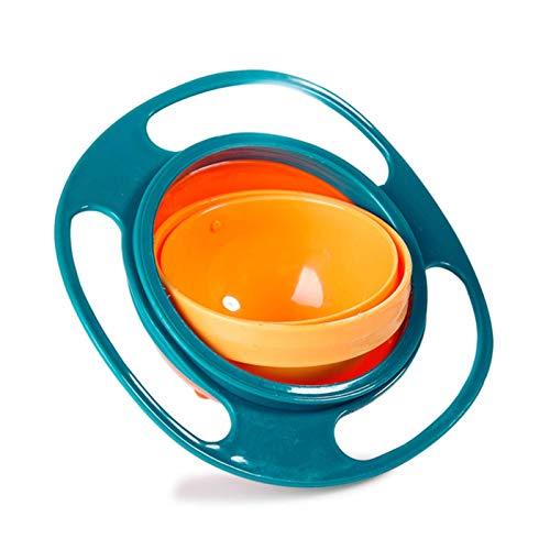 N-B Vajilla para niños, Cuenco giroscópico, diseño práctico, Equilibrio Giratorio para niños Cuenco de alimentación sólido antidesbordamiento giroscópico novedoso para niños