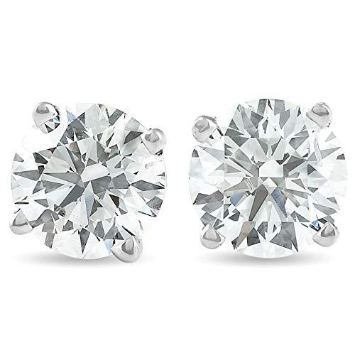 1 1/2カラットのダイヤモンドスタッド、スクリューバック付き。EX3ラボ製作IGI認定。