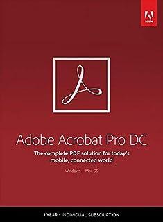 Adobe Acrobat DC | Pro | 1 Año | PC/Mac | Código de activación enviado por email