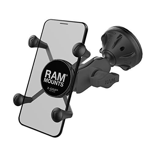 RAM X-Grip Phone Mount with RAM Twist-Lock Low Profile Suction Base