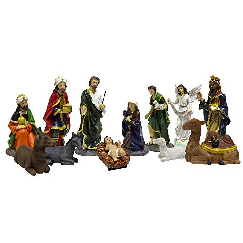 MEGA FAVORS 13 pcs 12 Inch Christmas Nativity Figurines Set, Perfect for Celebrating & Remembering The True Meaning of Christmas