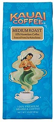 Kauai Hawaiian Ground Coffee, Koloa Estate Medium Roast (10 oz Bag) - 100% Premium Gourmet Arabica Coffee from Hawaii's Largest Coffee Grower - Bold, Rich Blend