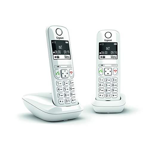 Tel�fono fijo GIGASET AS690 Duo Blanco