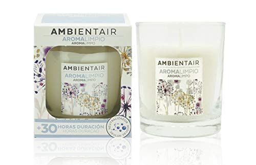 Ambientair. Vela aromática Aroma a Limpio. Vela perfumada con Cera Vegetal y Perfume Natural....