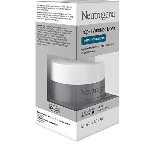 41xN0tvo5qL - Neutrogena Rapid Wrinkle Repair Retinol Regenerating Anti-Aging Face Cream & Hyaluronic Acid; Anti-Wrinkle Retinol Moisturizer & Neck Cream, with Hyaluronic Acid & Retinol, 1.7 oz