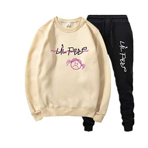 Lil Peep Sudadera con Capucha Tops de Manga Larga Suéter Suelto con Estampado Unisex Merch Lil Peep Sudadera Recortada Mujer XXXL