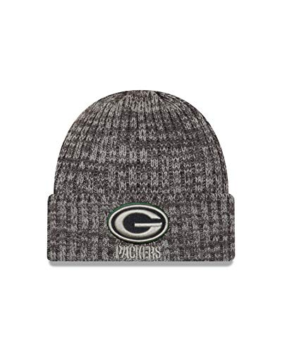 New Era Green Bay Packers Beanie - NFL 2019 On Field Crucial Catch Knit - Graphite - One-Size