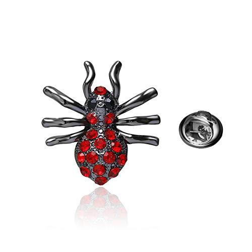 HuaiQing Broche para mujer con diamantes de imitación, diseño de araña, insectos y cristales