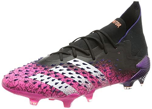 adidas Predator Freak .1 FG, Zapatillas de fútbol Hombre, NEGBÁS/FTWBLA/ROSSHO, 44 2/3 EU