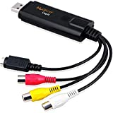 Tarjeta de captura de vídeo USB externa - Grabador de vídeo Geniatech MyGica® - Transfiere VHS Home Videos a PC/Captura Xbox 360 y PS3 Gameplay/S-Video y entrada compuesta