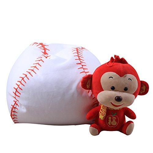 ele ELEOPTION Kinder Sitzsack 16 Zoll Stofftier Aufbewahrungtasche Riesensitzsack Sitzkissen Sessel für Kinder und Erwachsene Bett Möbel Bean Bag (Baseball Stil)