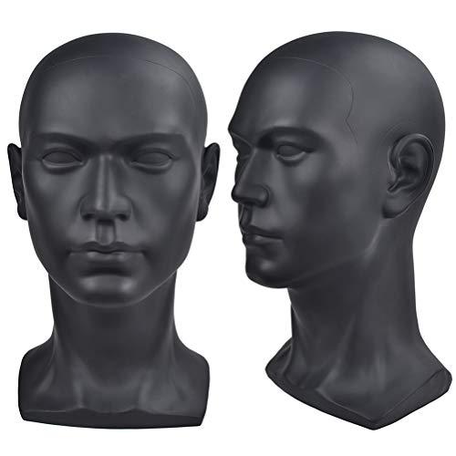 Cabeza de maniquí profesional de cosmetología, cabeza de maniquí masculino para exhibición de pelucas, pelo, gafas, sombrero, soporte de visualización de auriculares