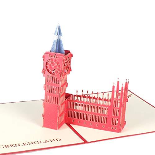 Biglietto di Auguri Pop-up 3D di San Valentino Biglietto di Auguri di Compleanno Varie Occasioni Bianco Biglietto di Auguri in Bianco (Color : D)