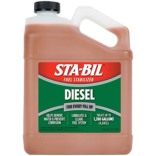 STA-BIL (22255) Diesel Fuel Stabilizer And Performance Improver - Keeps Diesel Fuel Fresh For Up To 12 Months - Lubricates And Cleans The Fuel System - Treats 1,280 Gallons, 1 Gallon, 128 Fl. oz.