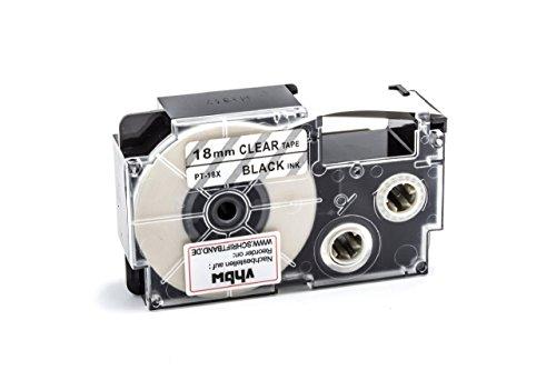 vhbw Kassette Patronen Schriftband 18mm kompatibel mit Casio KL-60, KL-120, KL-70E, KL-100E, KL-300, KL-750E, KL-780, KL-1500, KL-7000 Ersatz für XR-18X, XR-18X1.