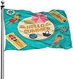 Viplili Flagge/Fahne, 3x5 Feet -Polyester Flags Summer Swimming Pool Flag,Yard Holiday and Seasonal Garden Flag Set