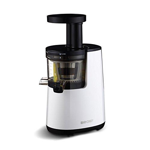 BioChef Atlas COLD PRESS – Extractor de zumos, Slow Juicer, Licuadora en frío de 150W y 60 RPM, Blanco