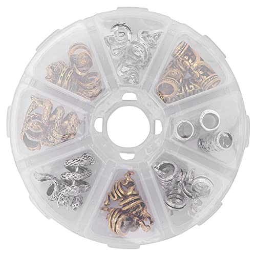 Dreadlocks Beads Metal Material ajustable DIY Hair Braiding Beard Beads para mujeres y hombres