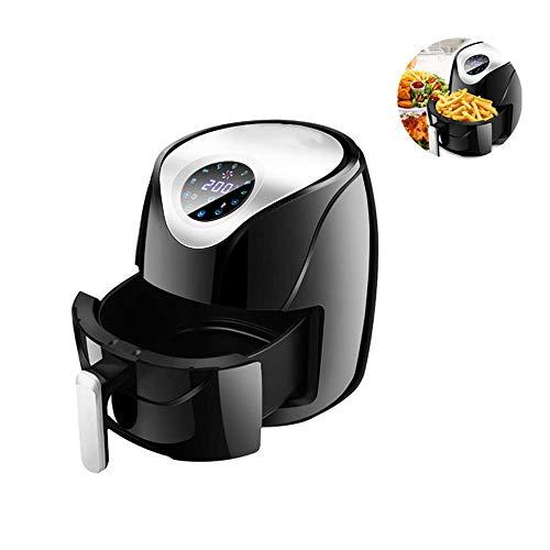 LHK Luftfritteuse, Max XL 5,8 Quart, mit spülmaschinenfestem Korb und Temperatur mit doppelter Steuerung, 30-Minuten-Timer, BPA-frei, gesundes Kochbuch inklusive, 1500 W.