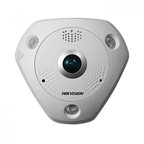 Hik127 - Hikvision Ds-2Cd63C2F-Ivs 12Mp Fisheye Network Camera Poe 15M Ir Ip66 W/Audio/Alarm Io