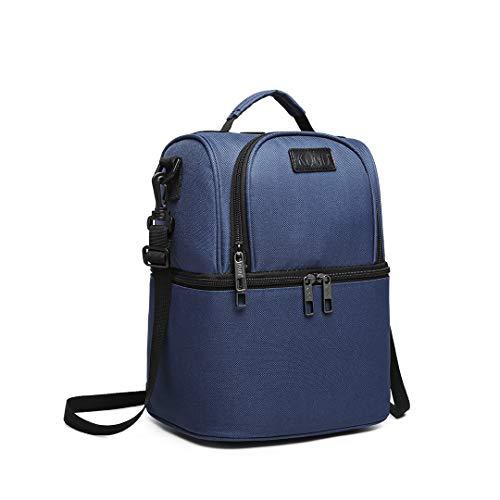 Kono 10L Kühltasche Picknicktasche Lunchtasche Mittagessen Tasche Thermotasche Isoliertas Rucksack (Marine)