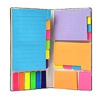 [6 Stile] ---- Das Klebezettel Haftnotizen Set enthält 6 verschiedene Arten von Planungszonen. Linien, Leerzeichen, Punkte und Index-Lesezeichen-Etiketten sind in verschiedenen Farben erhältlich, insgesamt 410 Blatt, die Ihren unterschiedlichen Anfor...
